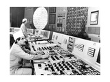 Technicians In the Control Room At Chernobyl Giclee Print by Ria Novosti