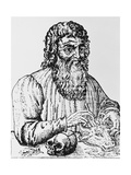 16th Century Woodcut of Hippocrates. Giclee Print by Jeremy Burgess
