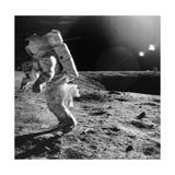Apollo 12 Astronaut on the Moon Giclee Print