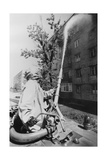 Hosing Down Contaminated Buildings In Prepyate Giclee Print by Ria Novosti