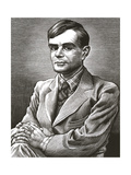 Alan Turing, British Mathematician Giclee Print by Bill Sanderson
