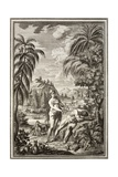 1731 Scheuchzer Creation Adam & Eve Giclee Print by Stewart Stewart