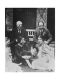 E. Rutherford Together with Niels Bohr Giclée-tryk af Peter Fowler