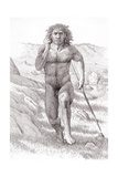 Neanderthal Man Giclee Print by Mauricio Anton