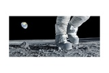 Astronaut Walking on the Moon Giclee Print by Detlev Van Ravenswaay