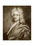 Edmund Halley, English Astronomer (1656-1742) Giclee Print by Jeremy Burgess