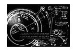 Tsiolkovsky's Works on Space Conquest Lámina giclée por Ria Novosti