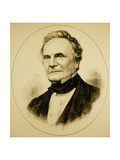 Engraving of Charles Babbage, 1792-1871 Giclee Print by Jeremy Burgess