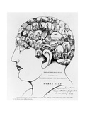 19th-century Phrenology Giclee Print by Library of Congress