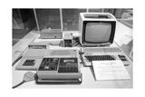 Soviet Mikrosha Computer, 1987 Giclee Print by Ria Novosti