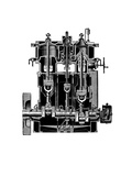 Bellis And Morcom Steam Engine Giclee Print by Mark Sykes