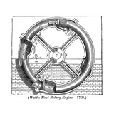 Watt's Rotary Engine Giclee Print by Science, Industry and Business Library