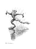 Dancing In the Rain, Conceptual Artwork Giclee Print by Bill Sanderson