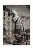 1886 Flammarion's Iguanodon Dinosaur Giclee Print by Stewart Stewart