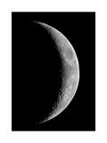 Waxing Crescent Moon Giclee Print by John Sanford