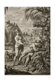 1731 Scheuchzer Creation Adam's Rib & Eve Giclee Print by Stewart Stewart