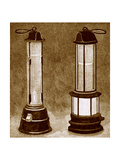 Miners' Safety Lamps Giclee Print by Sheila Terry