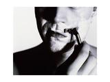 Man Shaving Giclee Print by Mauro Fermariello