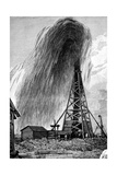 Oil Well, 19th Century Giclee Print by Science Photo Library