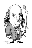 Benjamin Franklin, Caricature Giclee Print by Gary Gastrolab