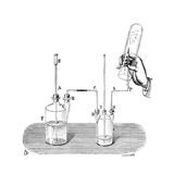 Hydrogen Combustion, 19th Century Lámina giclée por Science Photo Library