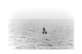 Sir Ernest Rutherford Taking a Swim In Dorset Giclee Print by Peter Fowler