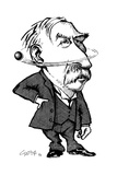 Ernest Rutherford, Caricature Giclee Print by Gary Gastrolab