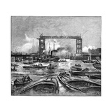 Construction of Tower Bridge, 1890s Giclee Print by Science Photo Library