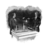 Electrical Experiment, Early 20th Century Giclee Print by Science Photo Library
