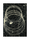 Electron And Positron Spiralling Tracks Giclee Print by Lawrence Berkeley Laboratory