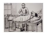 Illustration of 19th-century Surgeon Thomas Wells Giclee Print by Jeremy Burgess