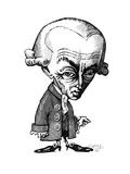 Immanuel Kant, Caricature Wydruk giclee autor Gary Gastrolab