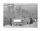 Weaving Looms Giclee Print by Science, Industry and Business Library