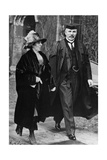 E. Rutherford And His Wife At Trinity College Giclee Print by Peter Fowler