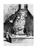 Smoke From a Fire Driving a Turbine In a Chimney Wydruk giclee autor Science Photo Library
