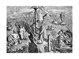 Vespucius Off the Americas Coast, Artwork Giclee Print by CCI Archives