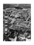 Aerial View of Chernobyl Soon After the Accident. Giclee Print by Ria Novosti