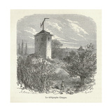 Chappe's Semaphore Station Giclee Print by Science, Industry and Business Library