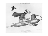 Steam Riding Rocket Giclee Print by Science, Industry and Business Library