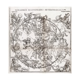 Northern Hemisphere Star Chart, 1537 Giclee Print by Middle Temple Library