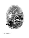 Night Train, Artwork Giclee Print by Bill Sanderson