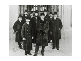 E. Rutherford In a Group Portrait At McGill Unive. Giclee Print by Peter Fowler