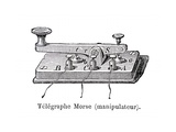 Morse's Telegraph Transmitter Giclee Print by Science, Industry and Business Library