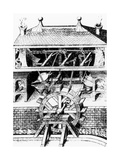 Water Wheel Powering Bellows At a Furnace Giclee Print by Science Photo Library