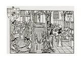 Hospital Ward In Sixteenth Century Giclee Print by Jeremy Burgess