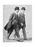 The Wright Brothers, US Aviation Pioneers Giclee Print by Science, Industry and Business Library