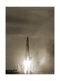 Sputnik 1 Launch Giclee Print by Detlev Van Ravenswaay
