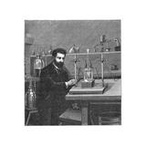 Moissan Isolating Fluorine, 1886 Giclée-tryk af Mehau Kulyk