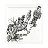 Human Evolution, Conceptual Artwork Giclee Print by Bill Sanderson