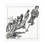 Human Evolution, Conceptual Artwork Giclee Print by Bill Sanderson